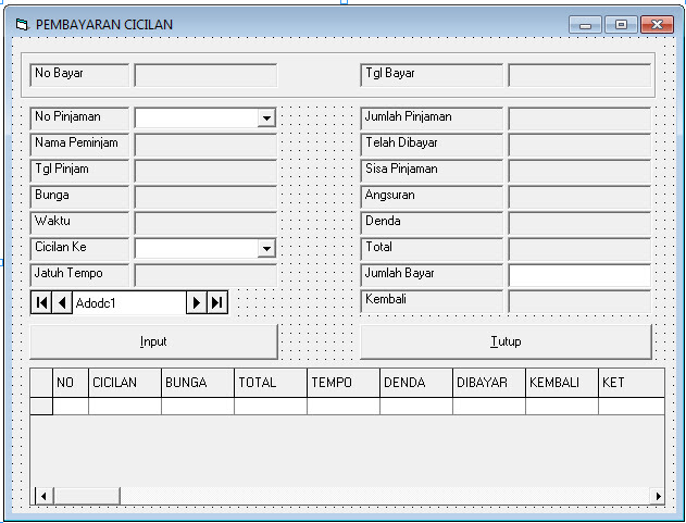 Download Coding Program Peminjaman Bank vb6, Program Peminjaman Bank Lengkap Di Visual Basic 6.0, Source Coding Program Peminjaman Bank Lengkap Di Visual Basic 6.0, download Coding Program Peminjaman Bank vb6
