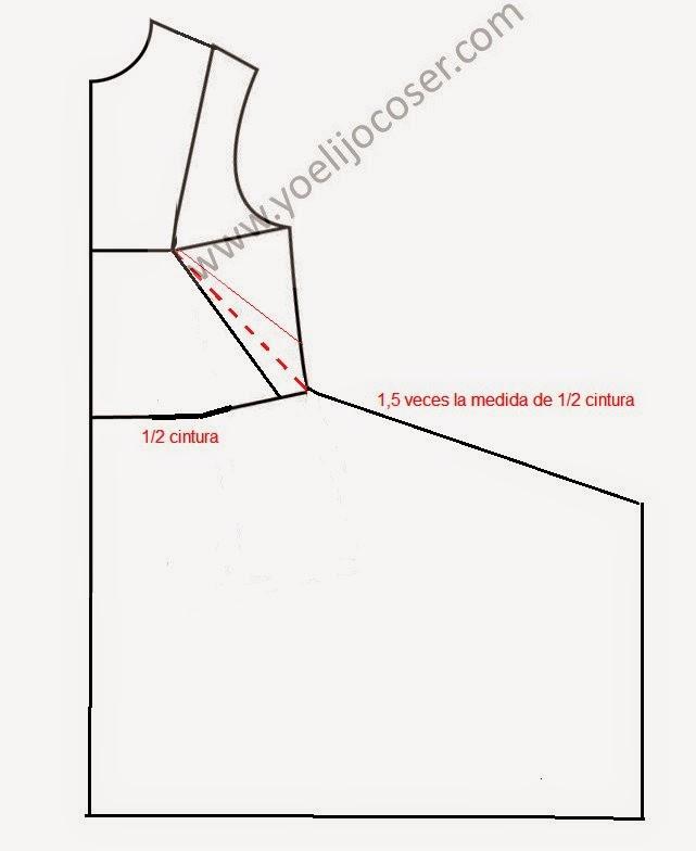 Modificación del patrón para hacer algunos vestidos de Burda