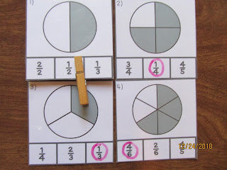 Identifying Fractions Clip It