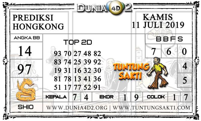 """Prediksi Togel """"HONGKONG"""" DUNIA4D2 11 JULI 2019"""