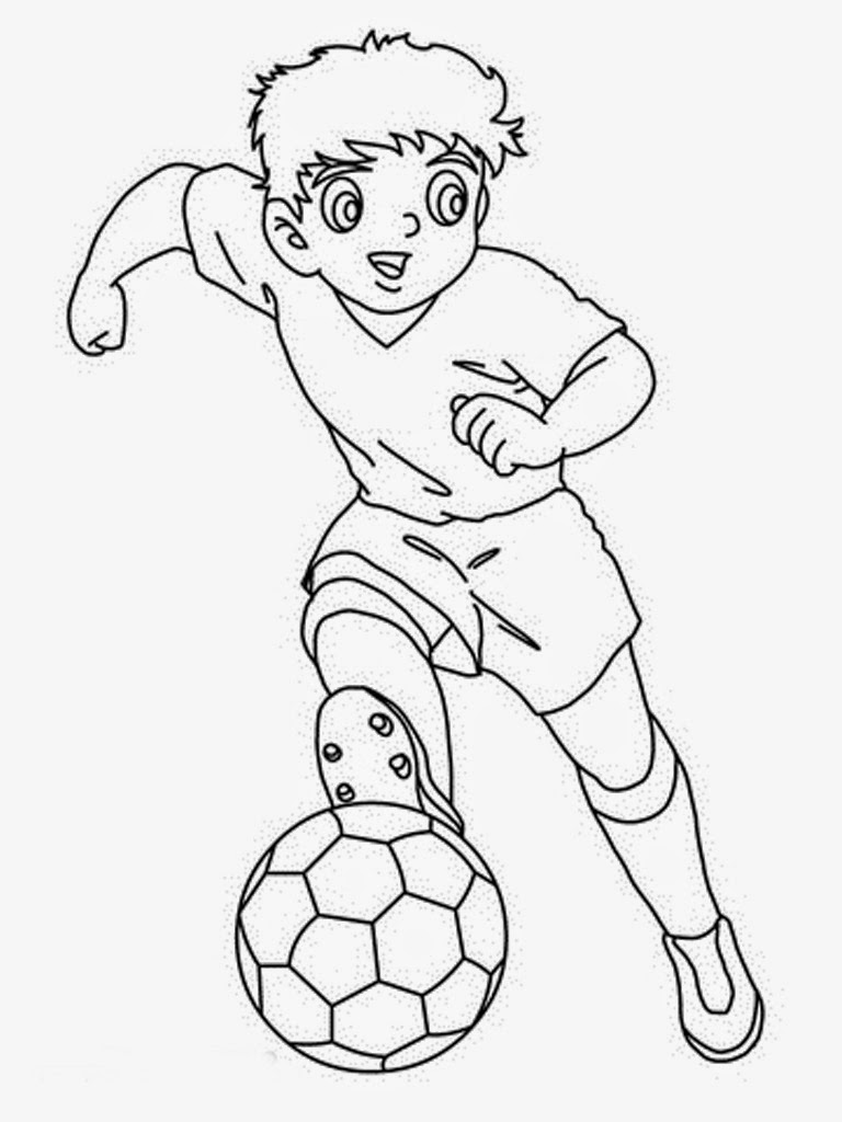 Printable Soccer Player Coloring