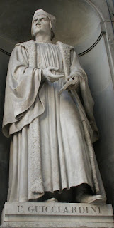 The statue of Guicciardini at the Uffizi Gallery