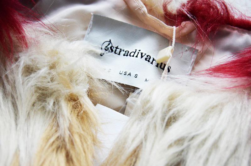 Futrzany płaszcz stradivarius