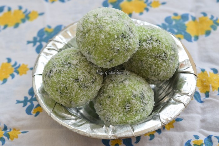 Paan-Balls-Bites-Coconut-Beteel-Leaves-Mithai-Easy-Diwali-Sweets-Recipe-Magic-of-Indian-Rasoi-Priya R