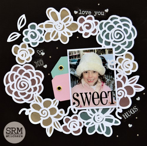 SRM Stickers Blog - SRM & 17 Turtles Layout by Christine - #layout #sweet #digitalcutfiles #stickers #17turtles