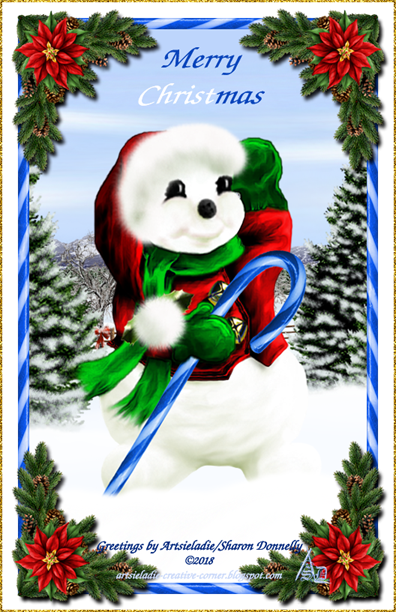Happy Snowman 2005 art by/copyrighted to Artsieladie
