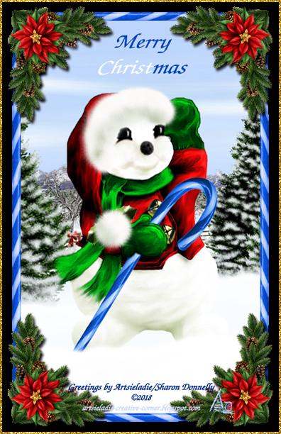 Happy Snowman 2005 art by/copyrighted to Artsieladie