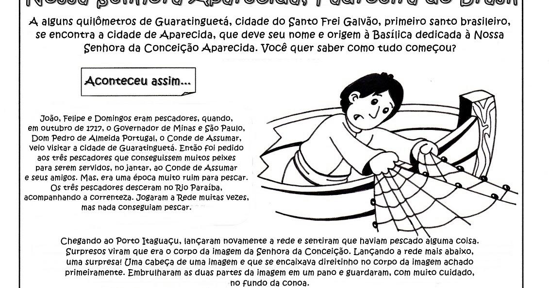 HistÓria De Nossa Senhora Aparecida: Tia Paula: História Da Padroeira Do Brasil