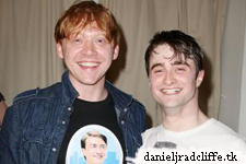 Matthew Lewis, Tom Felton and Rupert Grint visit Daniel at 'How To Succeed'