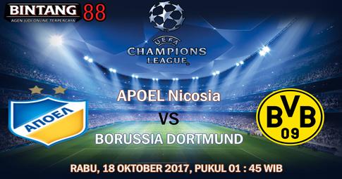 PREDIKSI SKOR APOEL Nicosia vs Dortmund  18 OKTOBER 2017