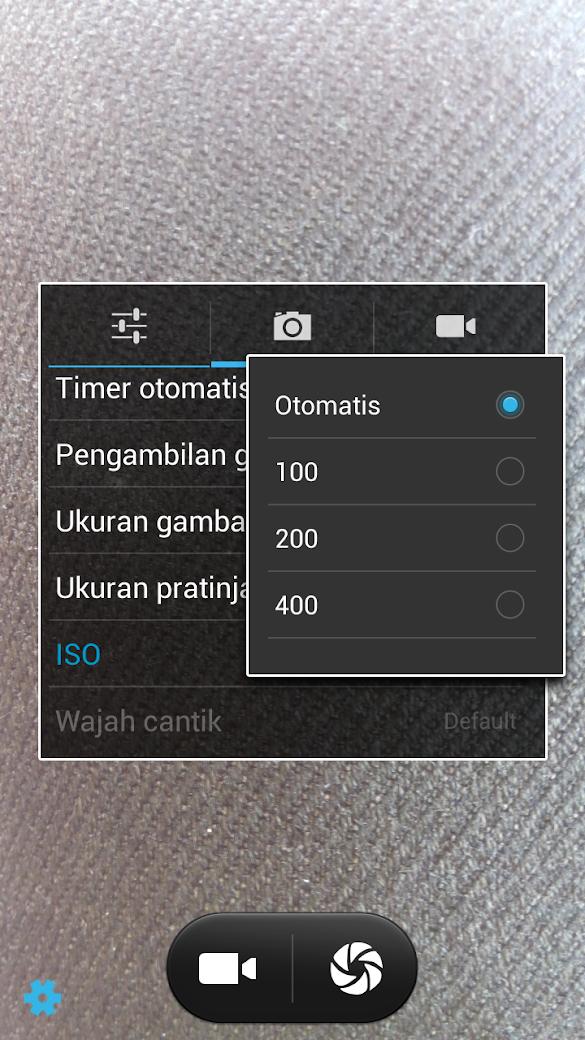 Arti fungsi Fitur ISO di kamera Android