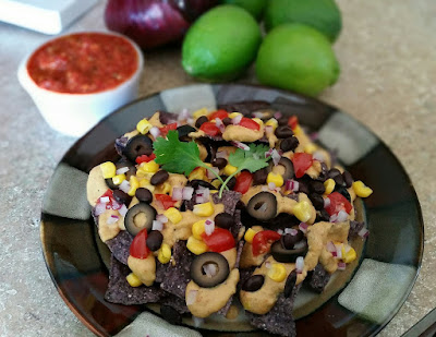 healthy recipe, game day recipes, healthy bar food, loaded nachos, tailgate food
