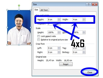 Cara Mengatur Ukuran Foto 3x4