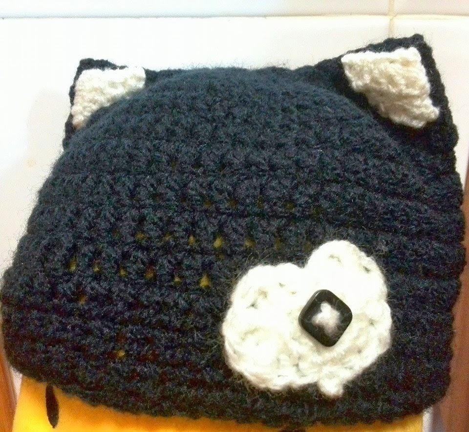 gorro de lana de gato, disfraz de gato