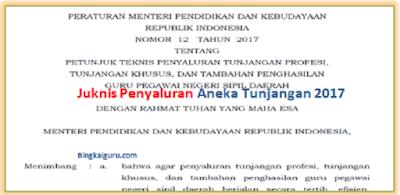 Juknis Penyaluran Aneka Tunjangan 2017