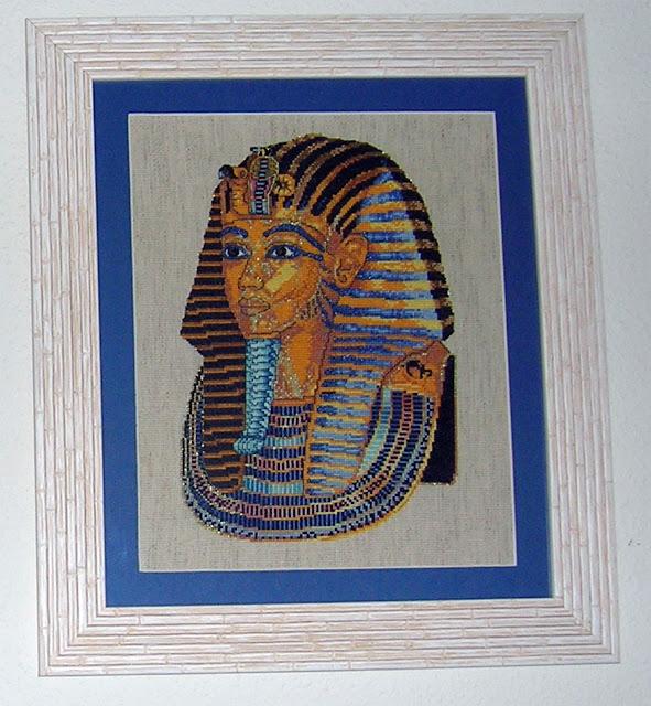 Tutankamon punto de cruz