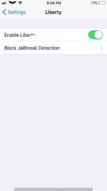 Liberty Lite – Jailbreak Detection Bypass for iOS 12