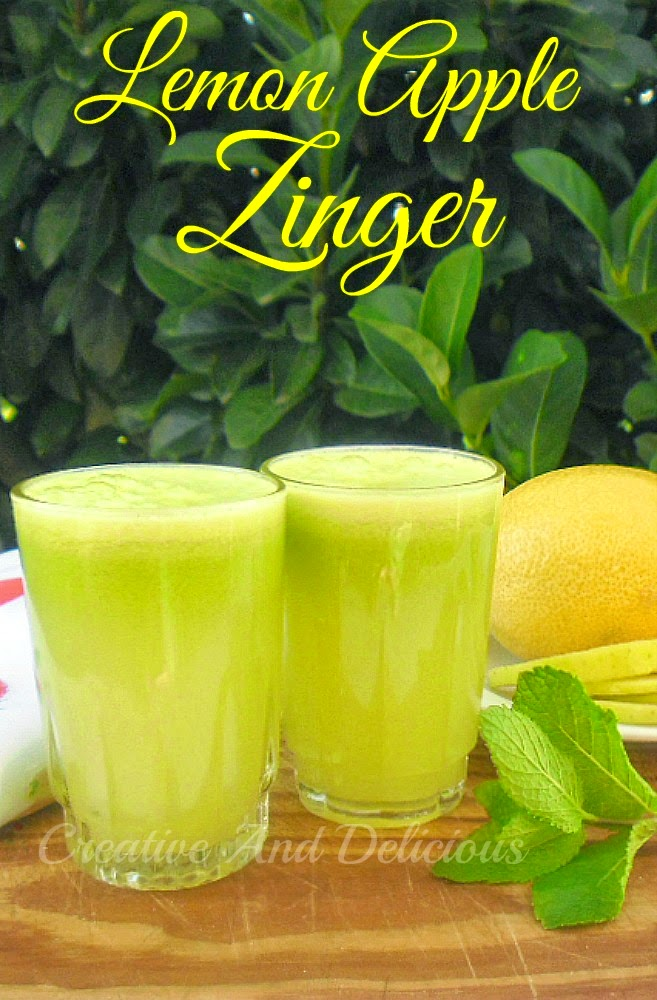 Lemon Apple Zinger ~ Refreshing and zesty Apple drink ! Summer winner every time