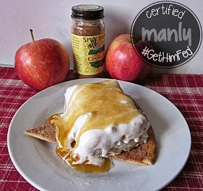 Apple Pie No Churn Ice Cream from Grandma Loy's KItchen or #GetHimFed on www.anyonita-nibbles.com
