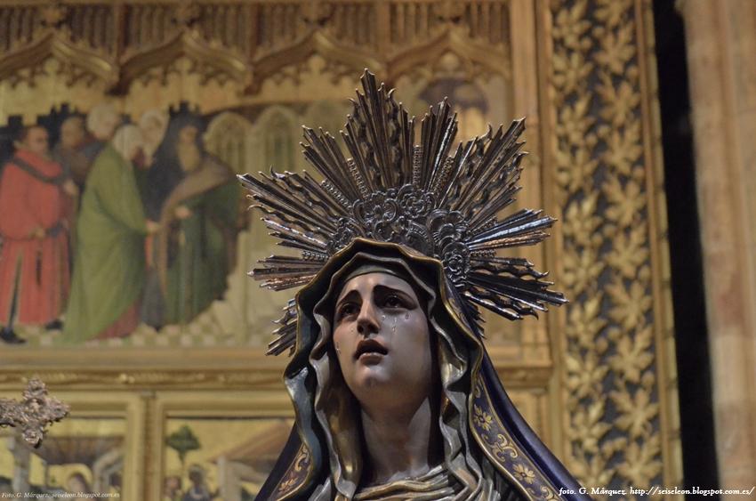 Consolación de María. Juan Manuel Miñarro. Cofradía de Nuestra Señora de las Angustias y Soledad. León. Foto. G, Márquez