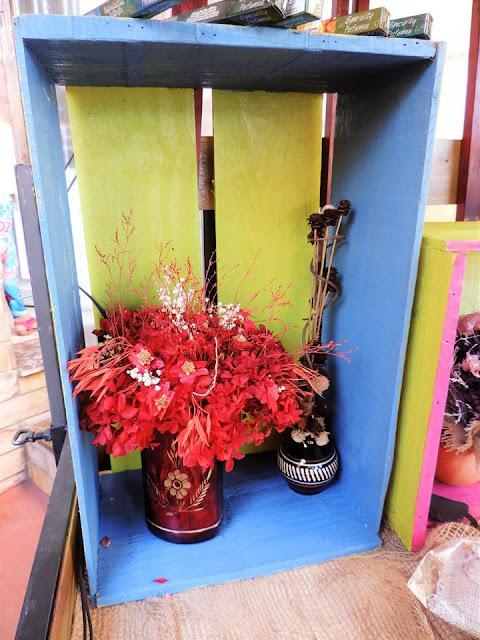 arranjos florais desidratados