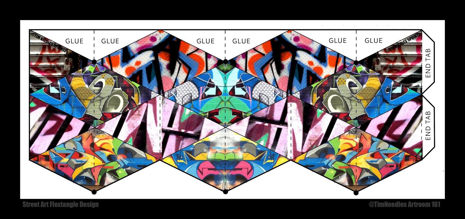 graphic regarding Flextangle Printable titled Artwork House 161: Electronic Media: Flextangles