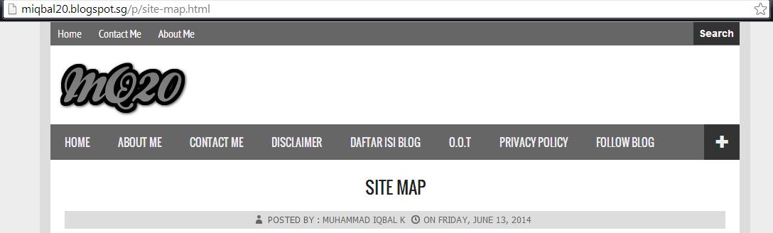 Cara Mengatur Alamat Pages / Laman di Blogger