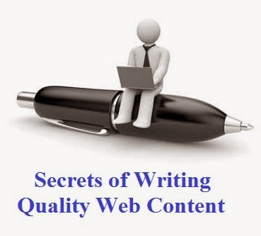 H5N1 elementary way inward which you lot tin give the axe describe traffic to your website together with enter to a greater extent than noticeable is The Well-Kept Secrets of Writing Quality Web Content