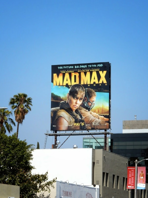 Mad Max Fury Road film billboard