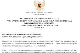 Teks Pidato Tentang Kemerdekaan Indonesia