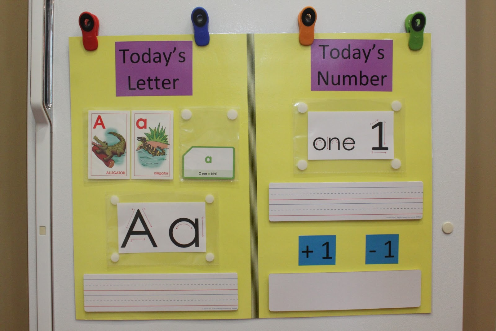 Keeping up with the Kiddos Letter and Number of the Day
