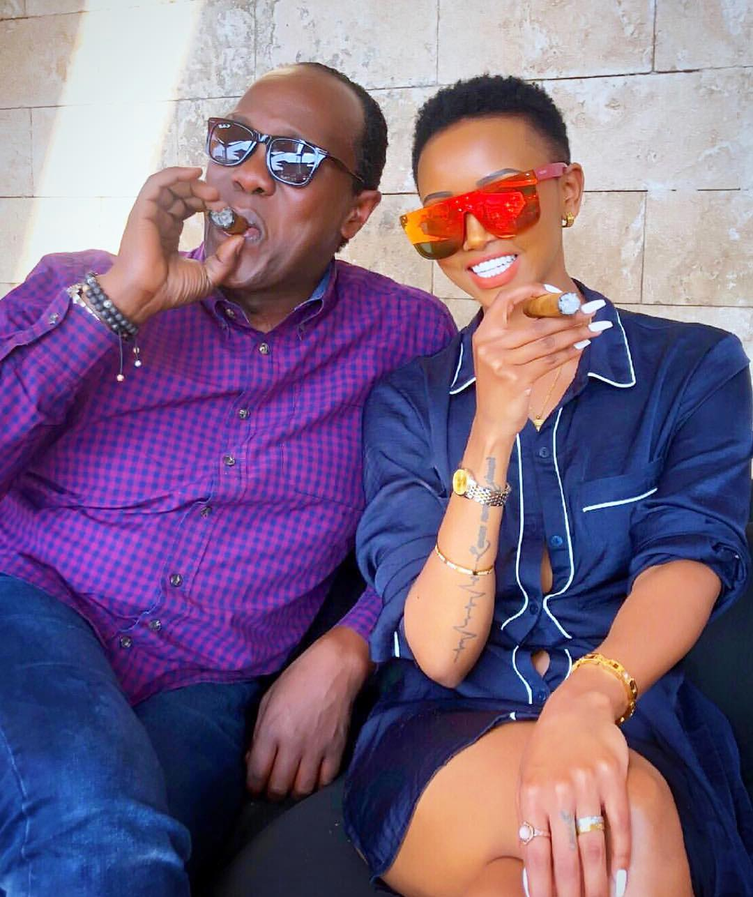 Act Your Age. Jeff Koinange Spotted Smoking With Huddah Monroe