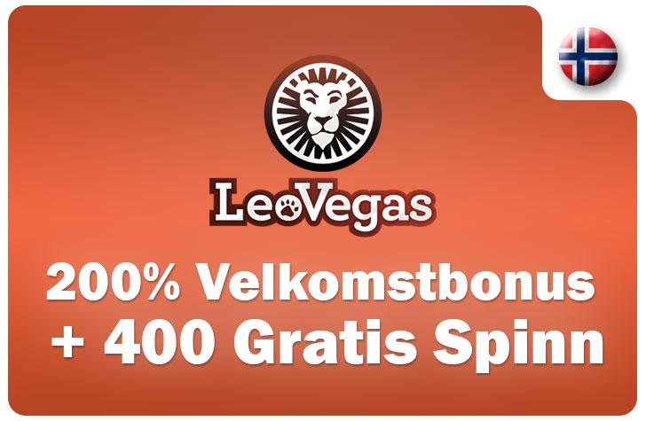 LeoVegas Kasino Bonus og Registreringsbonus