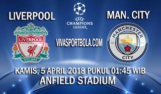 Prediksi Liverpool vs Manchester City 5 April 2018