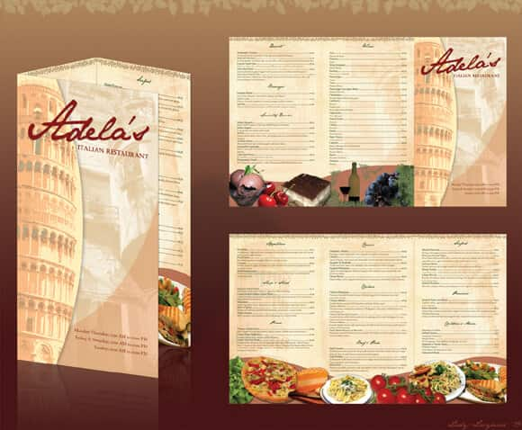 cartas de menu de restaurantes