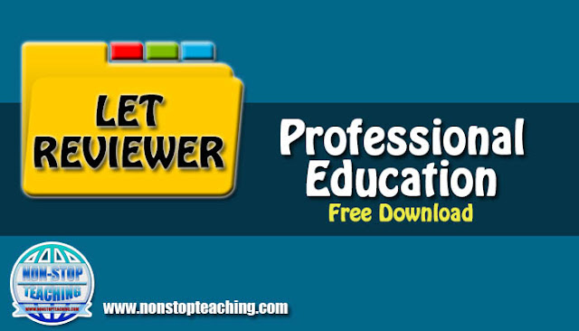 2019 Professional Education LET Reviewer