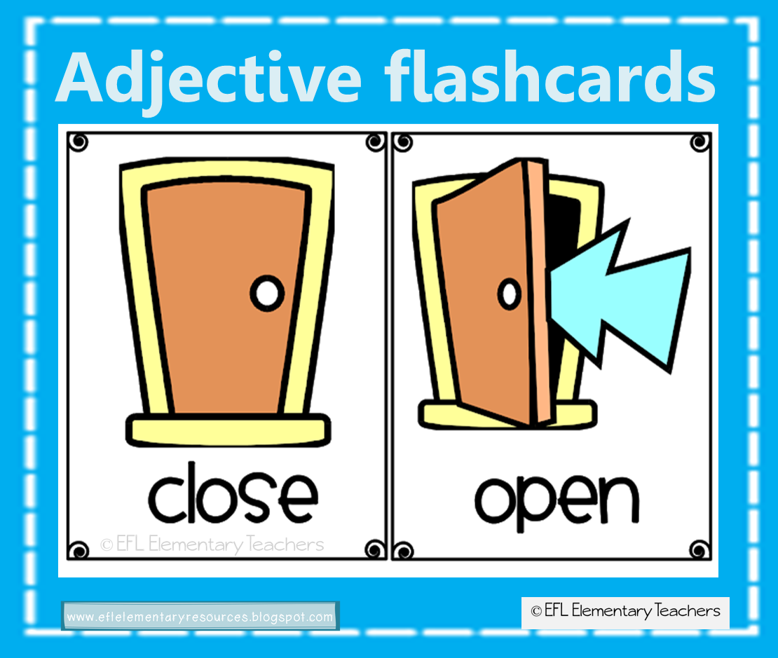 Efl Elementary Teachers Adjectives For Elementary Ell