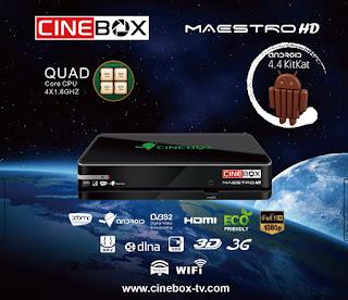 ATUALIZAÇÃO CINEBOX MAESTRO HD ANDROID V 3.4.0 - 27/04/2016