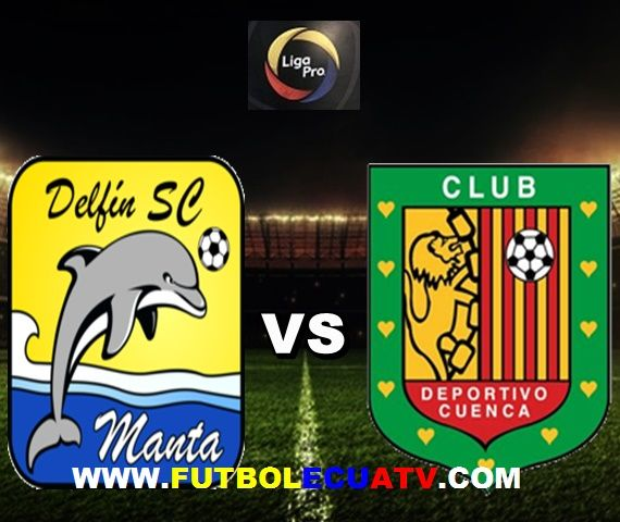 Delfín se mide ante Deportivo Cuenca en vivo a partir de las 19h15 horario designado por la FEF a efectuarse en el campo Jocay de Manta por el comienzo de la fecha diecisiete del campeonato ecuatoriano, siendo el árbitro principal Carlos Orbe con transmisión de los canales autorizados DirecTV Sports, CNT y GolTV.