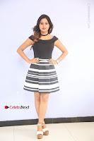 Actress Mi Rathod Pos Black Short Dress at Howrah Bridge Movie Press Meet  0014.JPG