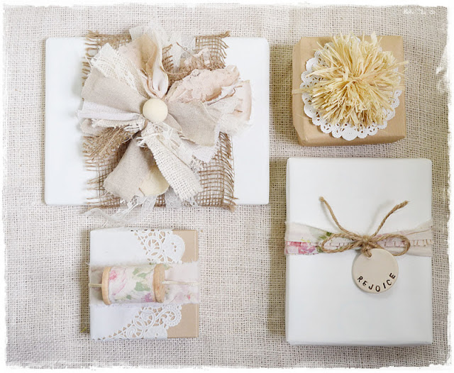 Wedding Gift Wrapping Ideas: Two Shades Of Pink: Pretty Packages: Natural & Vintage