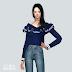 Frill Knit Off-Shoulder Top_프릴 니트 오프숄더 탑_여자 의상