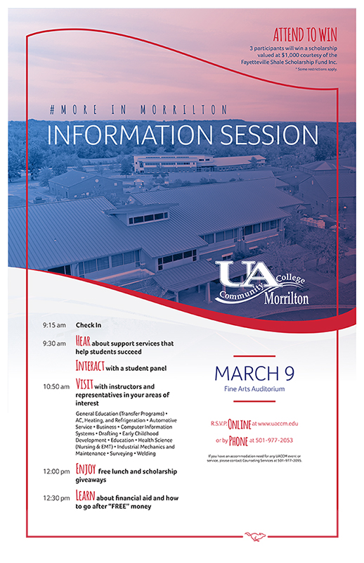 flyer with photo of campus