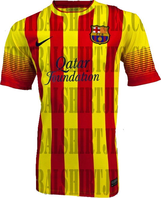 1c6f1dc6b2a It was rumored the 13 14 Barcelona Away Kit would feature the Catalan  colors Red Yellow since last September when Spanish newspaper Sport unveiled  the ...