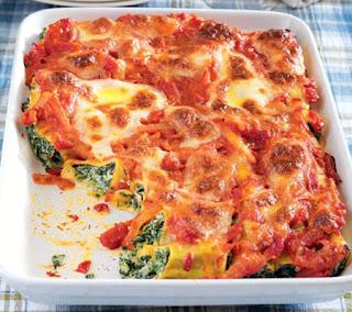 Spinach and Ricotta Cannelloni Recipe