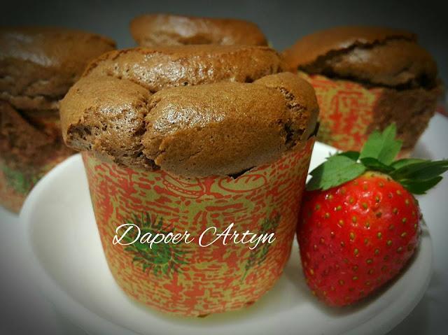 Resep Chocolate Hokkaido Chiffon Cupcakes