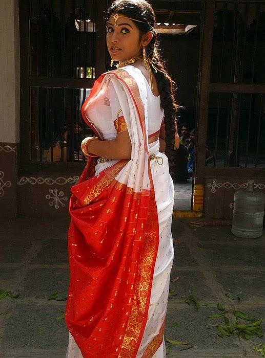 Prathista In White Saree First Night Spicy Photo Gallery -1396