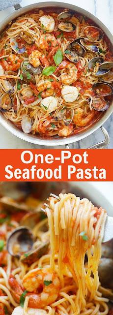 One Pot Seafood Pasta