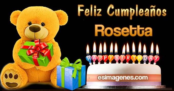 Feliz Cumpleaños Rosetta