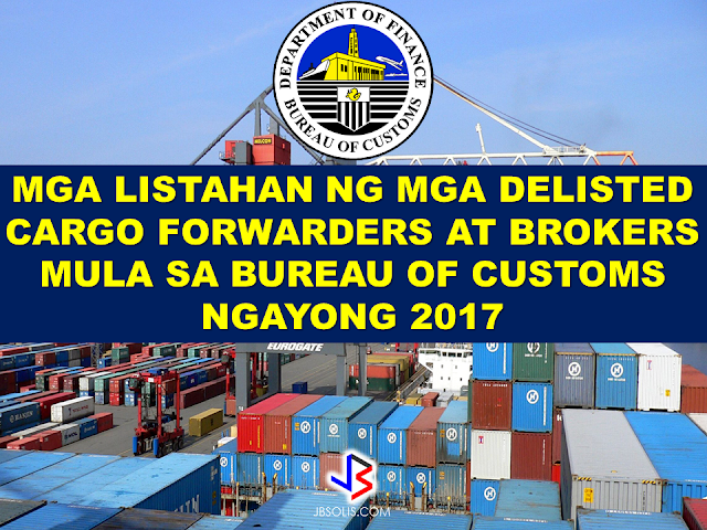 "The Bureau Of Customs has released an initial list of delisted cargo forwarders and brokers this 2017. This includes some bug names in cargo industries like BDO Leasing and Finance, Inc., Cebu Air, Inc., and Megawide Construction Corp among others.  The BOC advised the public not to make any business or transactions with any of these  delisted cargo companies.               BOC acting spokesperson for Intelligence and Enforcement Groups Neil Anthony Estrella said earlier  that included in the list are companies with previous violations and those proven to be non-existent following the site visit by BOC staff.  Erring companies will be immediately suspended once the initial list is out,  however,  Estrella noted that the suspension of some non-existent companies has already taken place.    Estrella said that unless lifted, suspension on the violators may be permanent. He assured that the BOC will ""always abide by due process"" in delisting and suspending importers and customs brokers who will not comply with the rules.  He added that should new accreditation process be needed, the BOC might issue  recommendation."